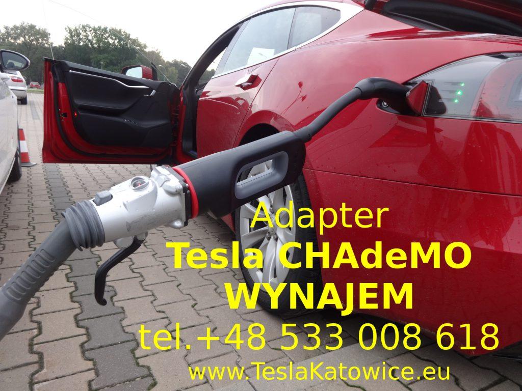 Adapter Tesla CHAdeMO wypożyczalnia i wynajem